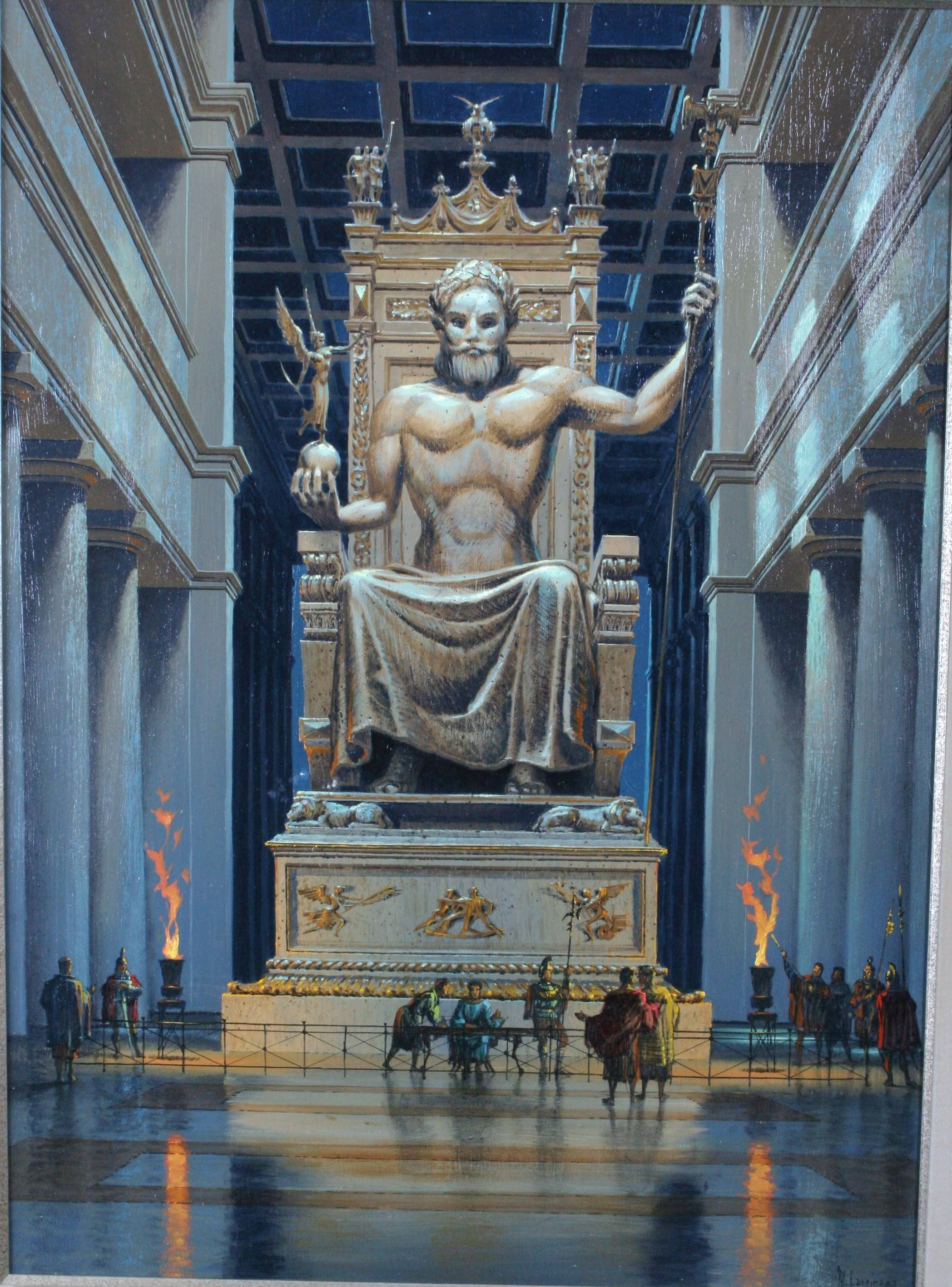 Research of the Ancient Seven Wonders – The Statue of Zeus ...