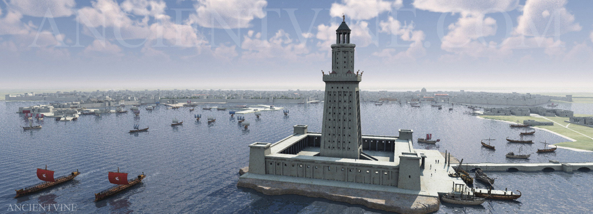 Research Of The Ancient Seven Wonders Lighthouse Alexandria